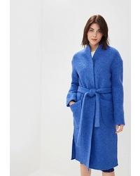 Женское синее пальто от Rosso Style