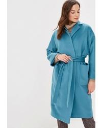 Женское синее пальто от Villagi