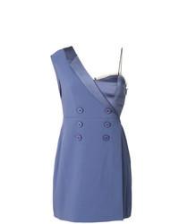 Синее платье-смокинг