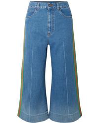 Синие брюки-кюлоты от Gucci