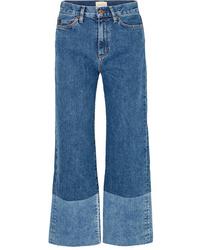 Синие брюки-кюлоты от SIMON MILLE