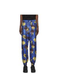 Синие брюки чинос с цветочным принтом