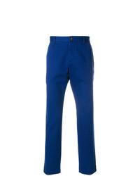 Синие брюки чинос от Gucci