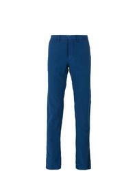 Синие брюки чинос от Incotex