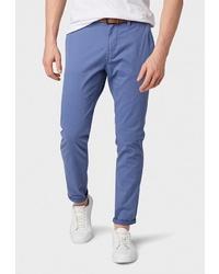 Синие брюки чинос от Tom Tailor Denim