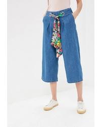 Синие джинсовые брюки-кюлоты от Naf Naf