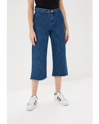 Синие джинсовые брюки-кюлоты от Only