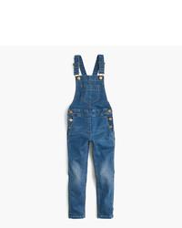 Синие джинсовые комбинезон