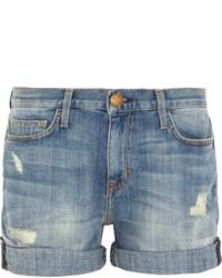 Женские синие джинсовые рваные шорты от Current/Elliott