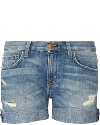 Синие джинсовые рваные шорты от Current/Elliott