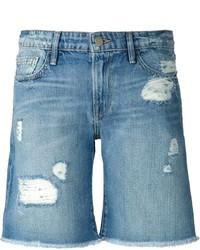 Женские синие джинсовые рваные шорты от Frame Denim