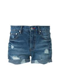 Синие джинсовые рваные шорты от GUILD PRIME