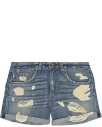 Синие джинсовые рваные шорты от Rag and Bone