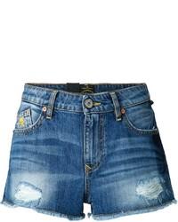 Женские синие джинсовые рваные шорты от Vivienne Westwood