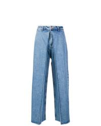 Синие джинсовые широкие брюки от Aalto