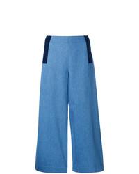 Синие джинсовые широкие брюки от Chinti & Parker