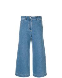 Синие джинсовые широкие брюки от Christian Wijnants
