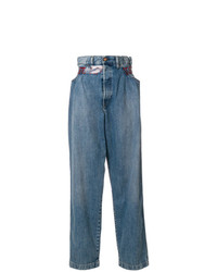 Синие джинсовые широкие брюки от Diesel