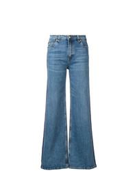 Синие джинсовые широкие брюки от Etro