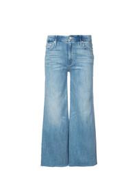 Синие джинсовые широкие брюки от Mother