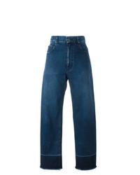 Синие джинсовые широкие брюки от Rachel Comey