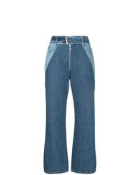 Синие джинсовые широкие брюки от Sea