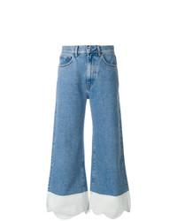 Синие джинсовые широкие брюки от Ssheena