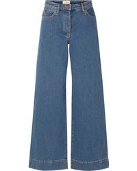 Синие джинсовые широкие брюки от The Row