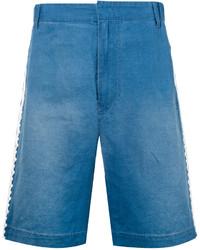 Мужские синие джинсовые шорты с вышивкой от Stella McCartney