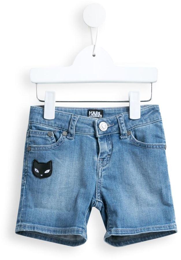 Детские синие джинсовые шорты для девочке