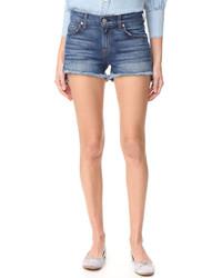 Женские синие джинсовые шорты от 7 For All Mankind