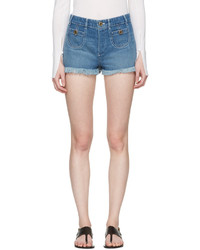 Женские синие джинсовые шорты от Chloé