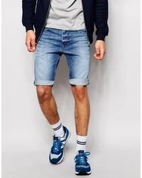 Мужские синие джинсовые шорты от Diesel