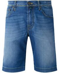Мужские синие джинсовые шорты от Jacob Cohen