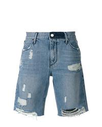 Мужские синие джинсовые шорты от RtA