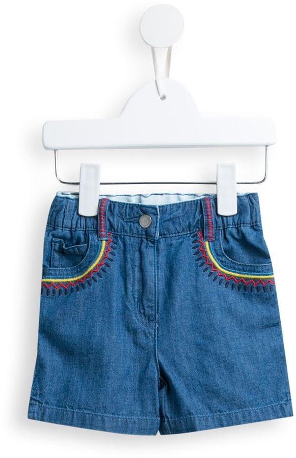 Детские синие джинсовые шорты для девочке от Stella McCartney