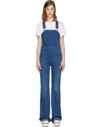 Женские синие джинсовые штаны-комбинезон от Stella McCartney