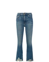 Синие джинсы-клеш от Current/Elliott