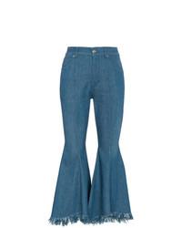 Синие джинсы-клеш от Golden Goose Deluxe Brand