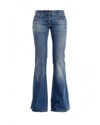 Женские синие джинсы-клеш от Just Cavalli