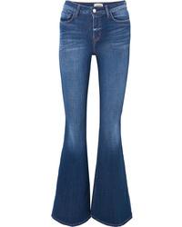 Синие джинсы-клеш от L'Agence