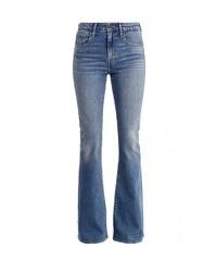 Женские синие джинсы-клеш от Levi's