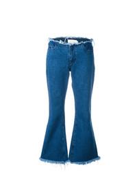 Синие джинсы-клеш от MARQUES ALMEIDA
