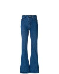 Синие джинсы-клеш от Matthew Adams Dolan