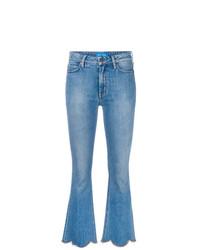 Синие джинсы-клеш от MiH Jeans