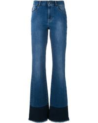Синие джинсы-клеш от RED Valentino