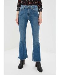 Синие джинсы-клеш от Topshop