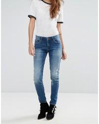 Синие джинсы скинни от Blank NYC