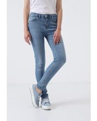 Синие джинсы скинни от Lime