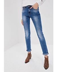 Синие джинсы скинни от Mossmore